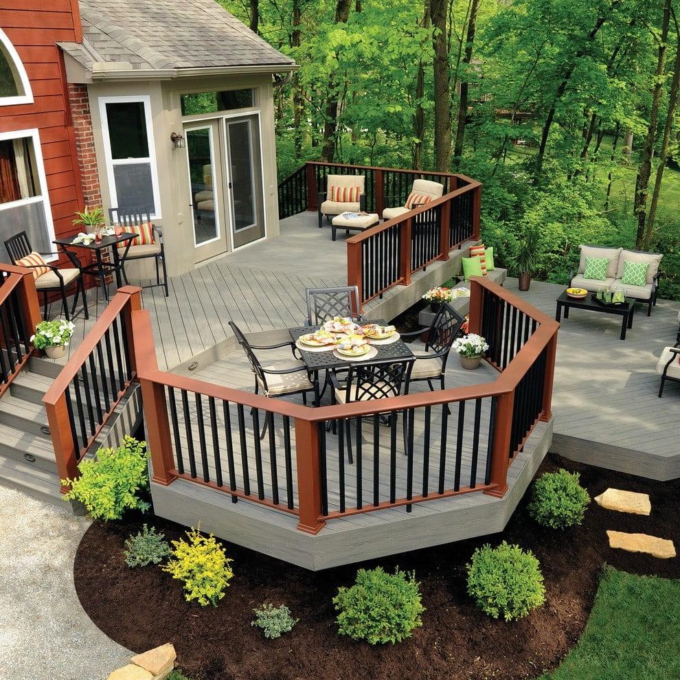 Красивые деревянные террасы